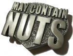 MAY CONTAIN NUTS BELT BUCKLE + display stand